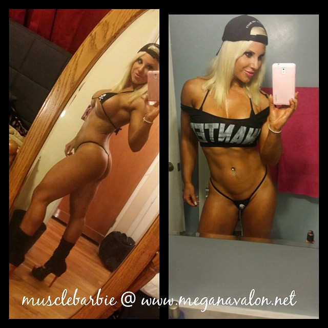 Megan avalon is muscle barbie